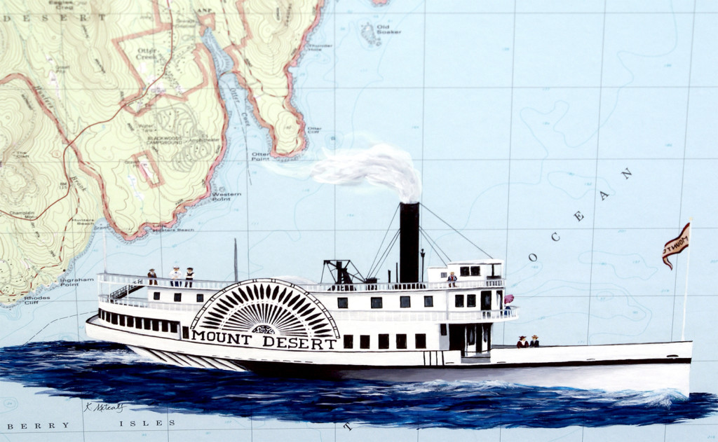 Mount Desert Steamer, detail