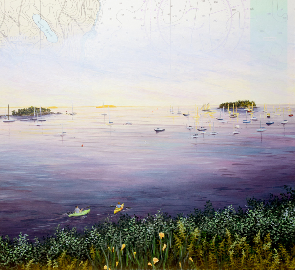 Sunset at Harbor's Edge, preview detail