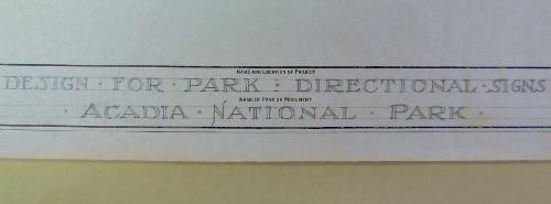 Acadia name, blueprint