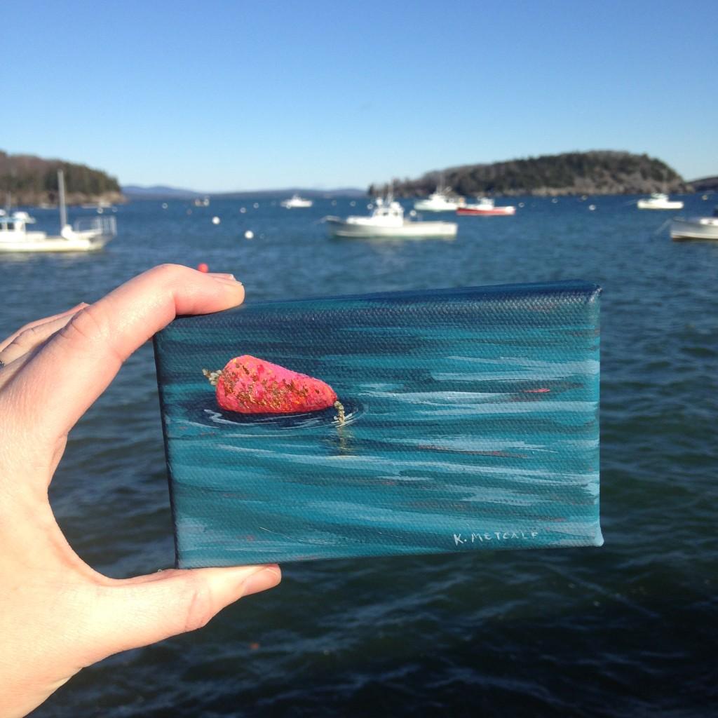 pink buoy, K.Metcalf